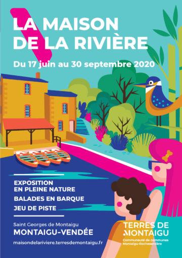 Image : couverture - Dépliant 2020 - Maison de la Rivière - Terres de Montaigu