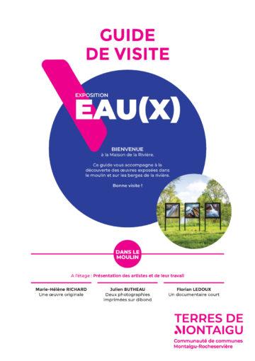 Image : Couverture - Guide de visite - Exposition Eau(x) - Maison de la Rivière - Terres de Montaigu