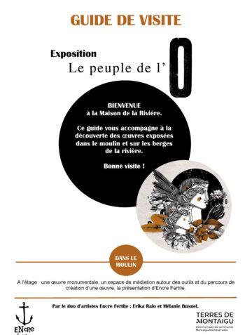 Image : Couverture - Guide de visite : Le Peuple de l'O - Maison de la Rivière - Terres de Montaigu